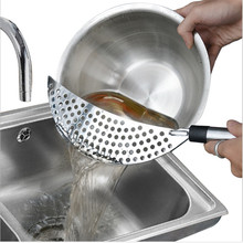 Colander Strainer Drainer Gourmet Stainless Steel Kitchen Cooking Tool 3 Pack