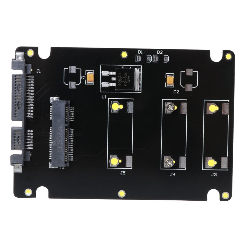 1PC Mini Pcie mSATA SSD To 2.5 Inch SATA3 Adapters Cards With Cases