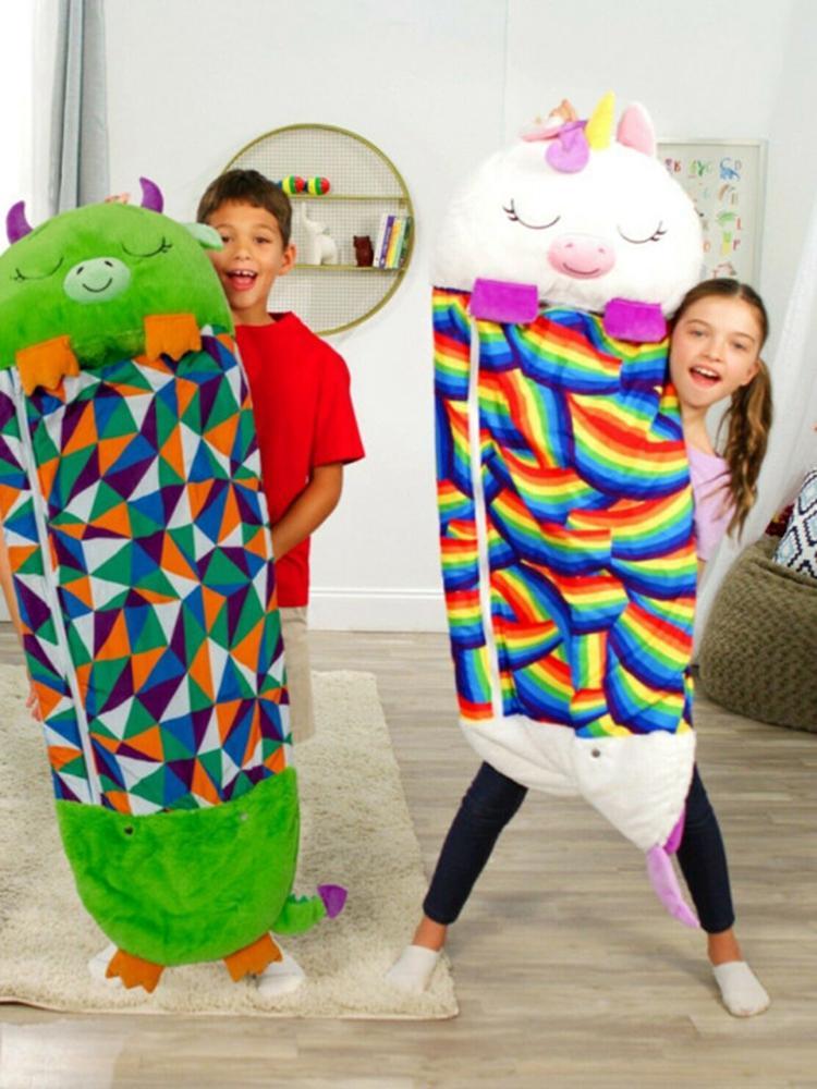 Blanket Unicorn Sleeping-Bag Gift Animal Happy Nappers Baby Children Cartoon Warm
