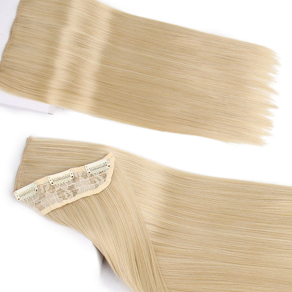 Synthetic Clip in One Piece Hair Extensions