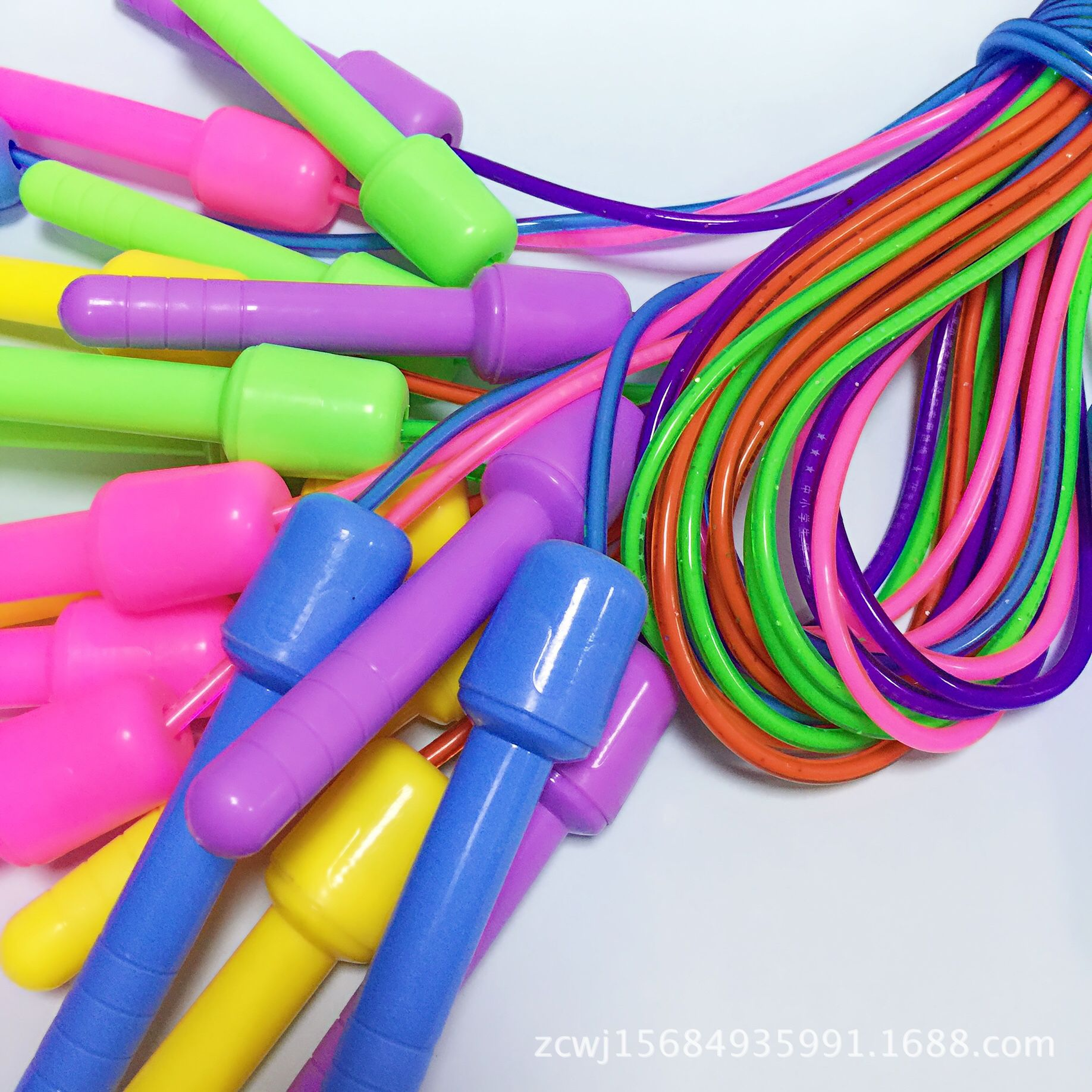 Primary School STUDENT'S Only Standard Jump Rope Plastic Color Rough Training Sports Supplies