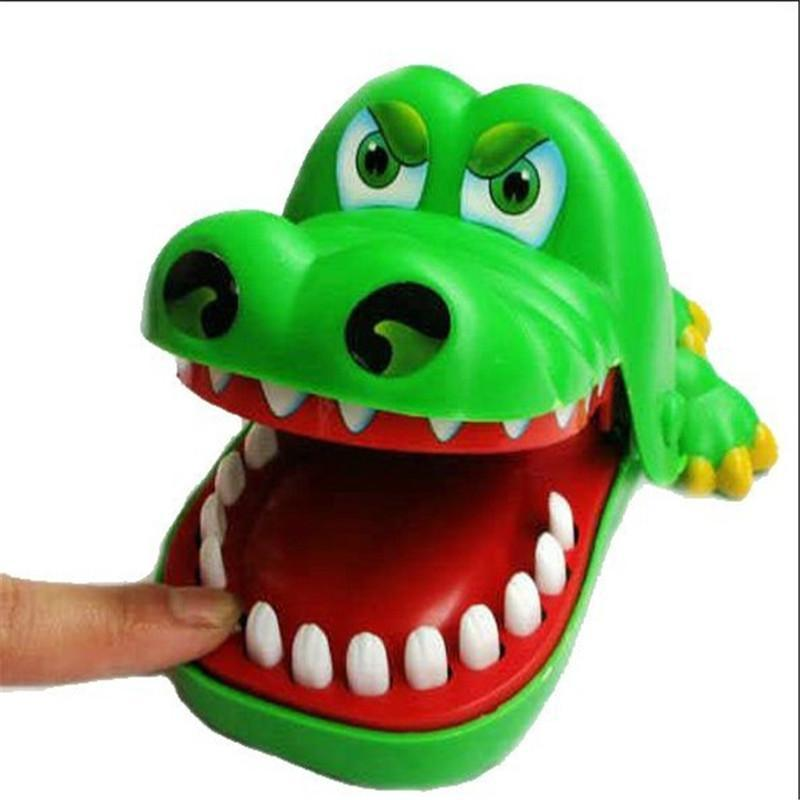 Creative Mini Crocodile Mouth Dentist Bite Finger Game Classic Kids Play Funny Gags Toy Early Educational Toy Random Color