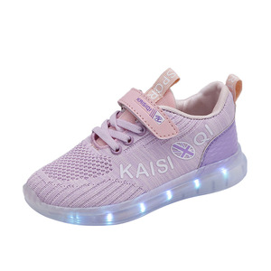 Image 5 - Size 25 35 2019 New Arrival Kids Shoes for Girl Boys Glowing Luminous Sneakers with Light Childrens LED Shoes USB Charging