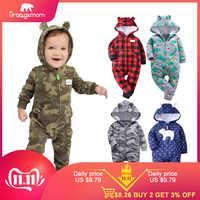 Orangemom 11,11 herbst fleece baby strampler mäntel für infant kleidung mit kapuze mit ohr schöne camo overalls für baby jungen kleidung