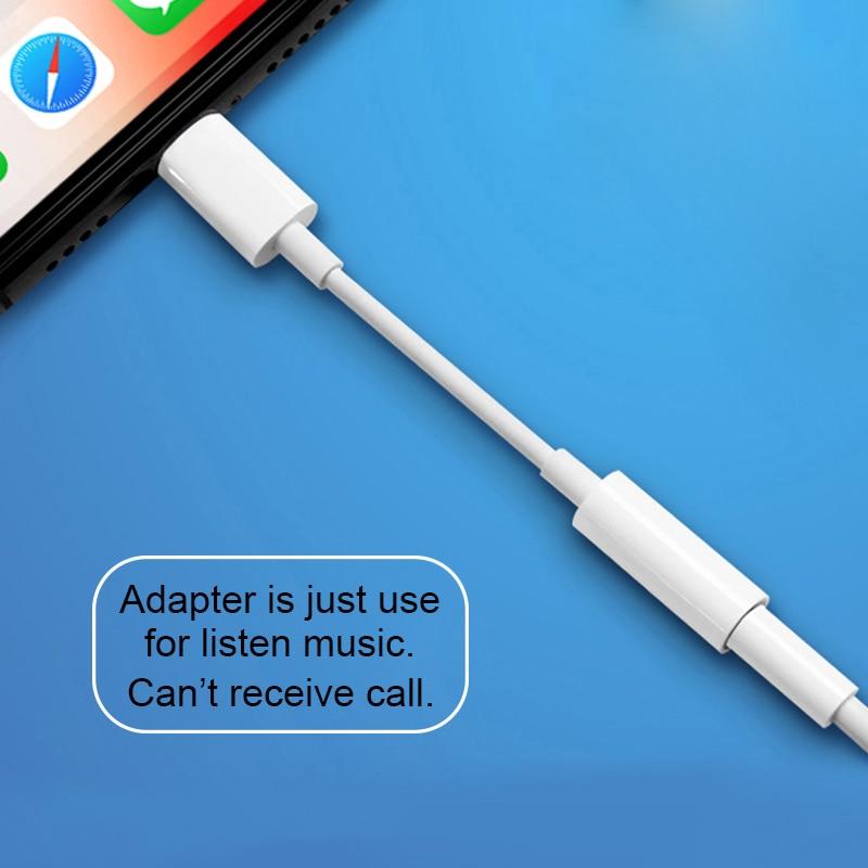 Adaptador de fone de ouvido para iphone 7 8 11 x xr aux fone de ouvido adaptador em ios 11 12 13 a 3.5mm jack masculino fêmea carregador adaptadores
