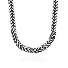 GOMAYA Jewelry Stainless Steel Necklaces European American Popular Classic Mens Herringbone Chain for Men Gift
