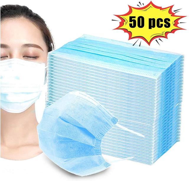 PM2.5 Profession  Mask 100PCS Anti-Dust 3-Ply Nonwoven Disposable Elastic Mouth Soft Breathable Flu Hygiene Face Mask Kid 1