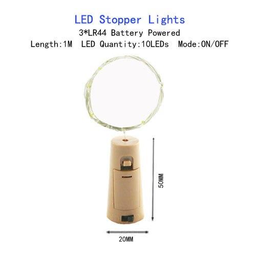1/2/5/10 M Медный провод светодиодные огни строки праздник освещение гирляндой Рождественский венок для год свадебная вечеринка украшения - Испускаемый цвет: LR44 Battery-1M