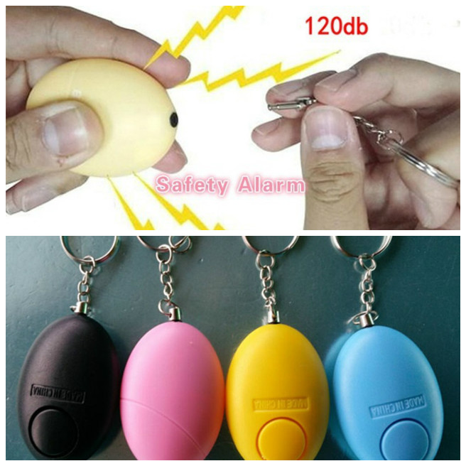 Self Defense Keychain Personal Alarm Emergency Siren Song Survival Whistle Device LHB99