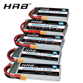 HRB RC 3S lipo battery 11.1V 5000mah 6000mah 2600mah 3000mah 3300mah 1800mah 4000mah lipo with XT60 Deans plug for RC Cars