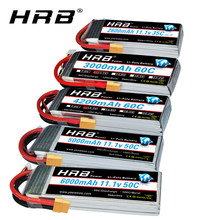 HRB – batterie lipo RC 3S, 11.1V, 5000mah, 6000mah, 2600mah, 3000mah, 3300mah, 1800mah, 4000mah, mah, avec prise XT60 Deans, pour voitures RC