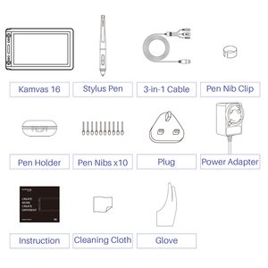 Image 5 - Huion kamvas GT 156HD V3 (kamvas 16) ペンディスプレイモニター15.6インチデジタルグラフィック描画タブレット8192レベルでモニター