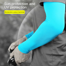 Breathable UV Protection Pure Color Arm Sleeve Sport Running Cycling Golf Fishing Fingerless Arm Warmers Basketball Cuff Sleeves flouncing knit fingerless arm warmers
