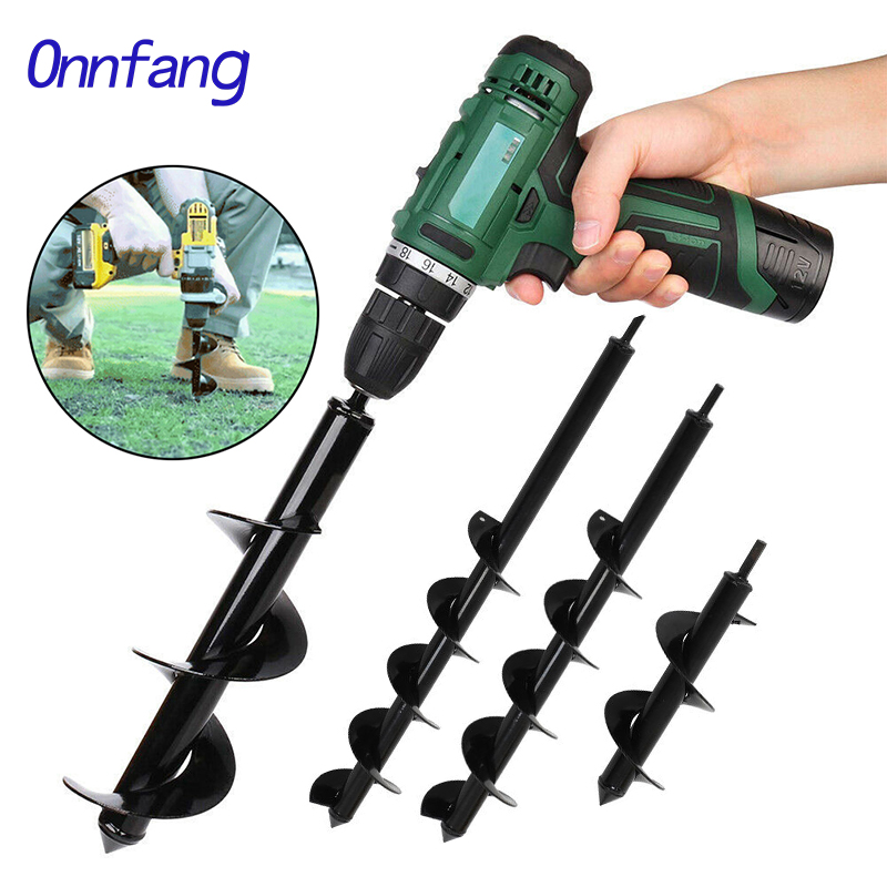 Garden Planter Drillforce Spiral Drill Bit Flower Bulb Hex Shaft Auger Yard Gardening Planting Post Hole Power Digger Tools Dril