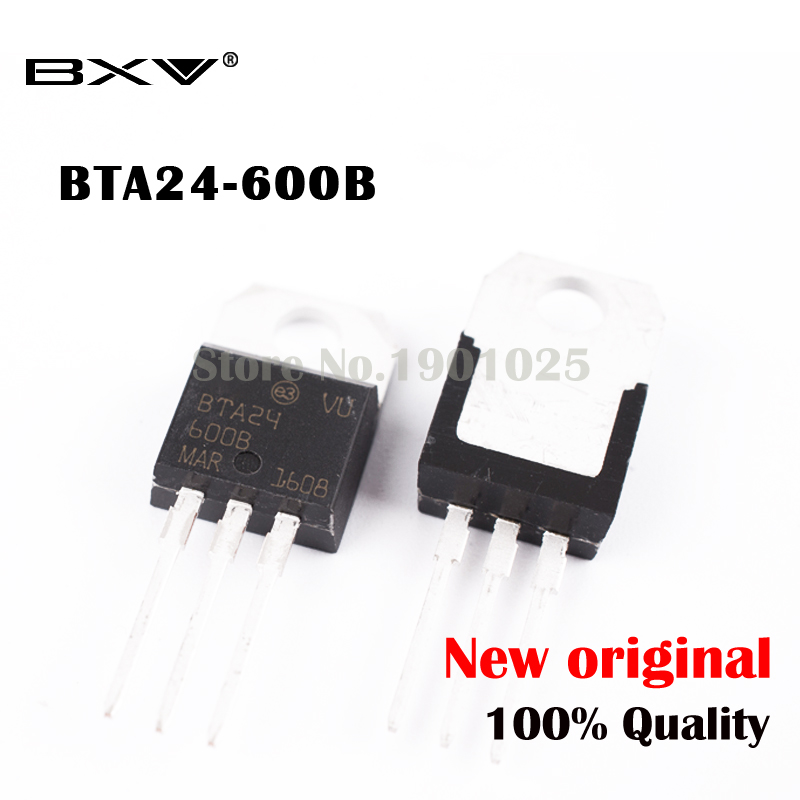 Free Shipping 10PCS BTA24-600B BTA24-600 BTA24 Triacs <font><b>25</b></font> Amp 600 Volt TO-<font><b>220</b></font> new original IC image