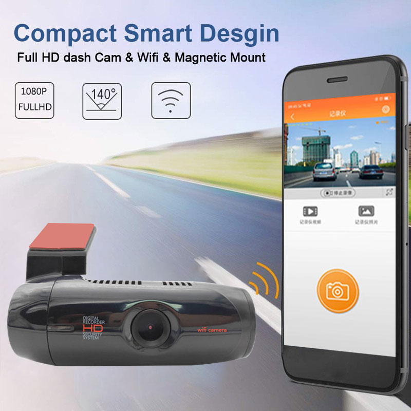 1080P HD Автомобильный видеорегистратор ADAS DVR Wifi камера 140 авто видео рекордер регистратор g-сенсор Обнаружение движения ночное видение видеорегистратор аксессуары