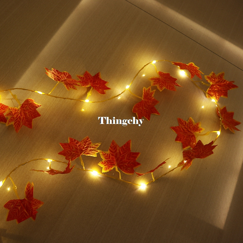 folhas de hera luzes da corda do diodo emissor de luz