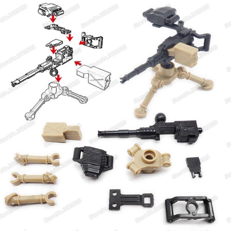 Legoinglys di Armi Militari M2 Heavy Machine Gun Figure Assemblare Blocchi di Costruzione ww2 Soldato Armato Moc Bambino Giocattolo Di Natale