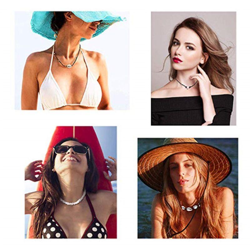 4 pièces/ensemble perles de riz cassé coquille collier ensemble personnalisé mode Choker charme femmes irrégulier coquillage bijoux