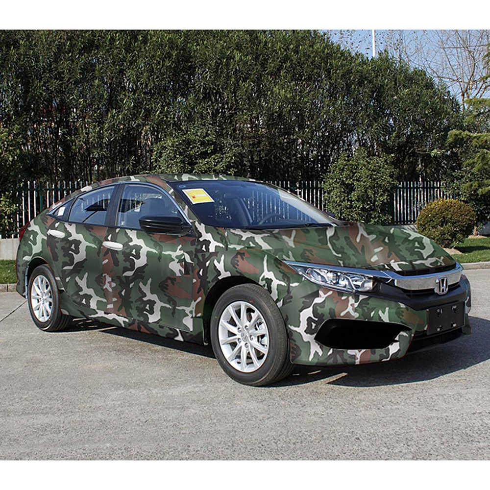 LEEPEE 디지털 우드랜드 그린 사막 카모 20cm * 152cm 3D 자동차 스티커 자동차 랩 필름 자동차 스타일링 보호 위장 비닐 PVC