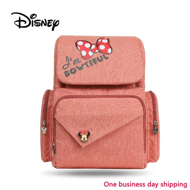 Disney sac à langer sac à dos bébé sacs pour maman sac humide mode momie maternité couche organisateur Mickey Minnie chariot landau voyage