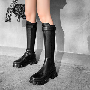 Image 5 - FEDONAS שמנמן עקבים פלטפורמת מגפי החורף חדש אמיתי עור נשים קרסול מגפי מסיבת לילה מועדון נעלי אישה אופנוע מגפיים