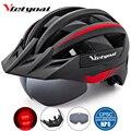 Victgoal велосипедный шлем светодиодный Moutain дорожный USB Перезаряжаемый светильник велосипедный шлем для мужчин солнцезащитный козырек поляри...
