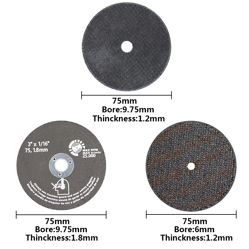 Image 2 - 75mm Grinding Wheel Cutting Discs 75mm Circular Saw Blade For Metal Cutting Fiber Cutting Disc Abrasive Tools-in Saw Blades from Tools