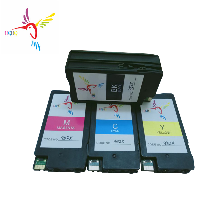 4pc/set Remanufactured Ink Cartridge For HP 952 <font><b>952XL</b></font> For HP OfficeJet Pro 7740 8720 8710 8730 8210 Printer <font><b>952XL</b></font> ink cartridge image