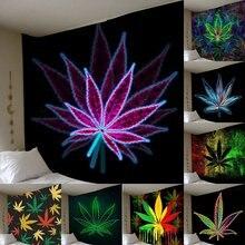 Nowy 3D Print Maple Leaf wiszące gobeliny ścienne dekoracja sypialni Home Decor gobelin ścienny Art Tapiz czeski zasłony Tapestry Wall