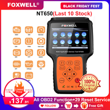 Foxwell NT650 OBD2 Automotive Scanner ABS Airbag SAS EPB DPF TPMS Oil Reset Injector ODB2 Car Diagnostic Tool OBD 2 Auto Scanner