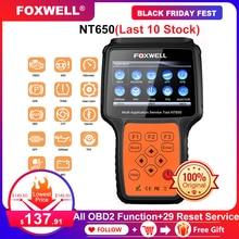 Foxwell nt650 obd2 automotivo scanner abs airbag sas epb dpf tpms óleo redefinir injector odb2 ferramenta de diagnóstico do carro obd 2 scanner automático