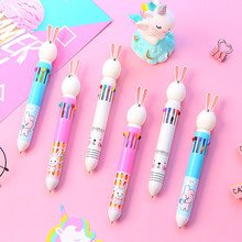 10 Colors Cute Rabbit Cartoon Ballpoint Pen School Office Supply Stationery  Funny Colorful Refill Pens Promotional Gift