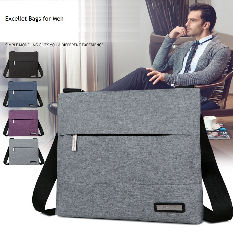 2020  Men's'  Canvas Single Shoulder Business Messenger Bag Cross-body Leisure Single-shoulder Zipper Men's Bag