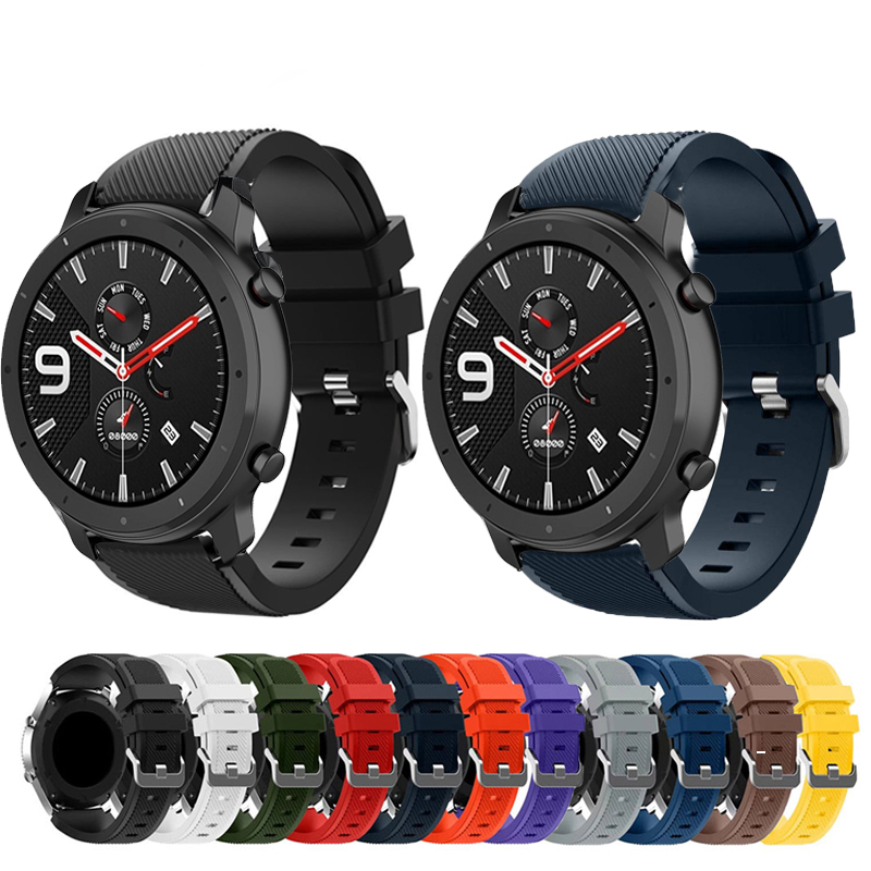 Newest For Huami Amazfit GTR 47mm Strap Watch Steel Buckle Silicone Strap 22mm Smart Watch Wristband Accessories For Samsung S3