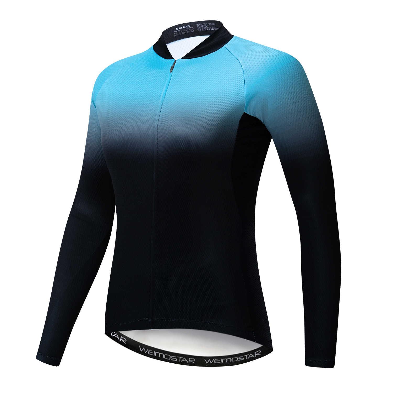 Weimostar ciclismo jérsei das mulheres 2020 mtb manga longa motocross jerseys vermelho verde azul camisa da bicicleta maillot mujer camisa