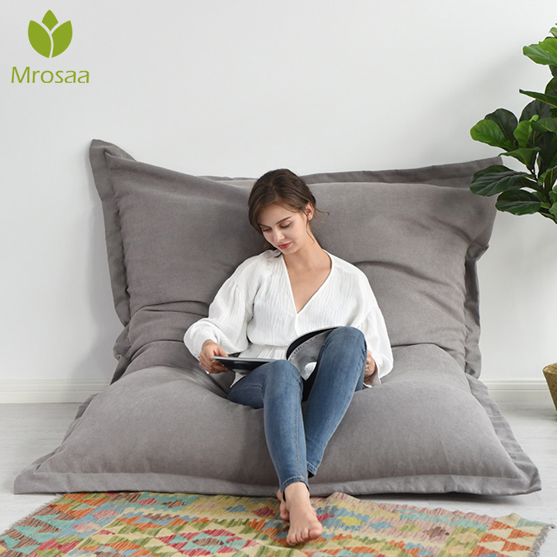 Large Small Lazy Sofas Cover Chairs Without Filler Oxford/Cotton Cloth Lounger Seat Bean Bag Pouf Puff Couch Tatami Living Room