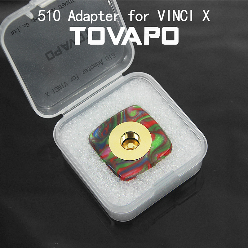 Newest TOVAPO 510 Adapter For VINCI/ VINCI X RDA/RTA/RDTA Electronic Cigarettes Thread Electronic Cigarette Adapter