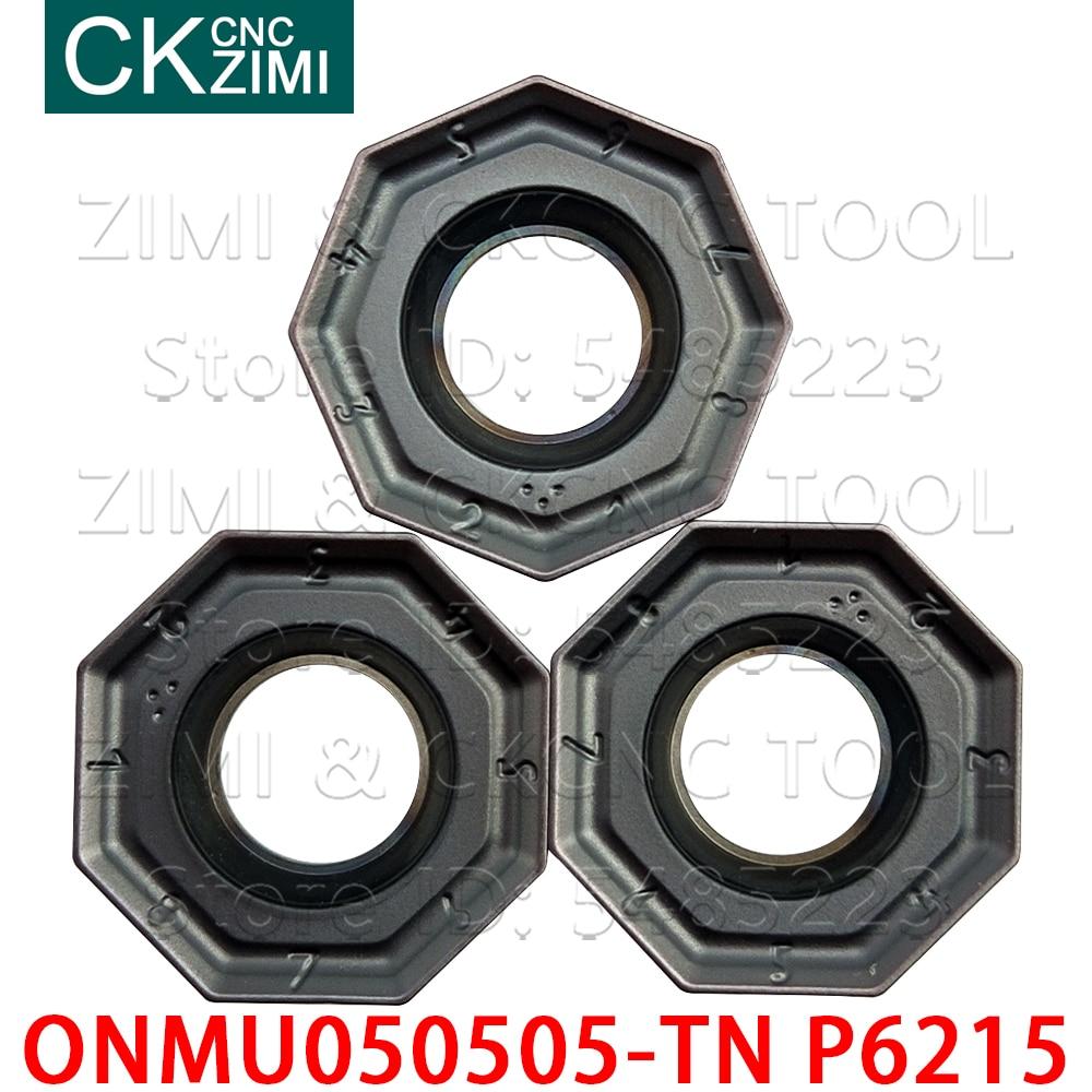 ONMU ONMU050505-TN P6215 Octagonal milling inserts Knife Carbide Insert Turning Tool high quality Lathe Cutter Tool Boring Heads