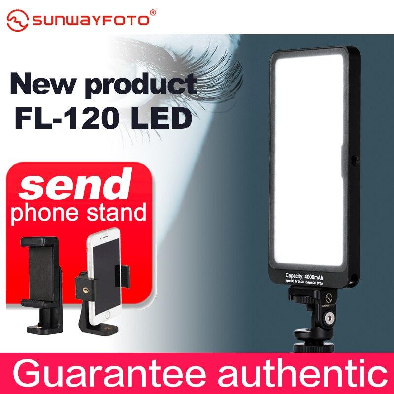 SUNWAYFOTO FL-120 lumière vidéo LED éclairage de photographie à intensité variable sur la lampe de remplissage de l'appareil photo pour reflex numérique Nikon Canon