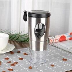 Ręczny młynek do kawy  szlifowanie ceramicznego młyna stożkowego  składany uchwyt ze stali nierdzewnej młynek do kawy z pędzelkiem i łyżeczką w Ekspresy do kawy od AGD na