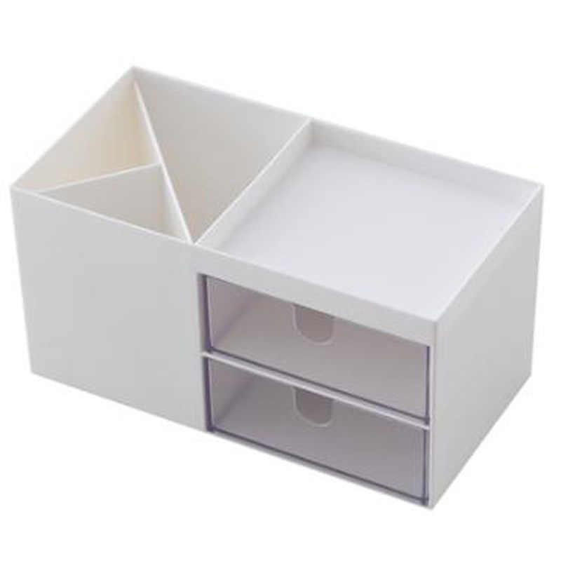 الشمال نمط متعدد الوظائف حامل القلم البلاستيكي منظم مكتب التجميل صندوق تخزين سطح المكتب درج التخزين المنظم أشتات