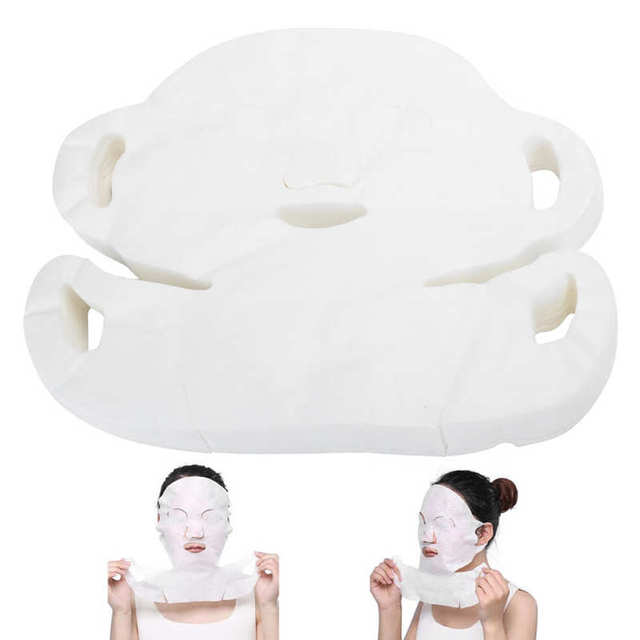 100Pcs Disposable Face Mask Paper DIY Cotton Face Skin Care Moisturizing Accessories