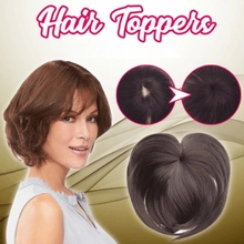 Wig Hairpiece Silky Natural Clip-On Soft for Women Neat Front-Fringe Synthetic Heat-Resistant-Fiber