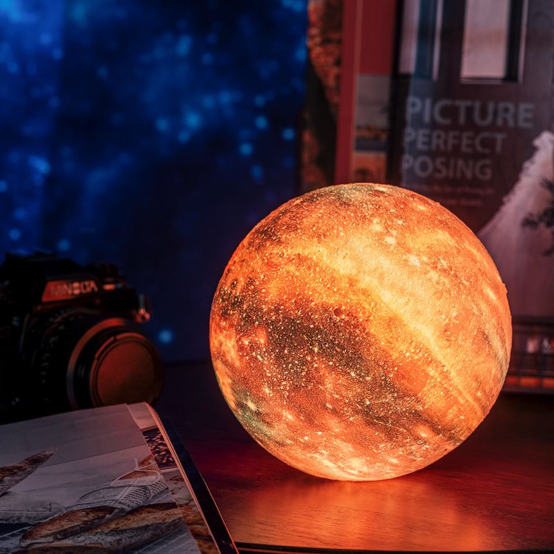 Print Star 3D Moon Lamp Colorful Changing Light for Home Decor with USB Charger 10