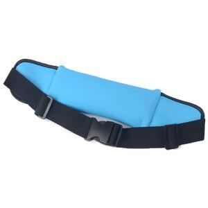 Image 5 - Cinturón de cintura impermeable para mujer, bolsa para correr con soporte para botella para maratón, trotar, bolsa de llaves para teléfono, para correr