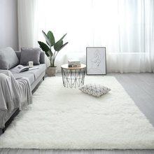 2020 novo nórdico macio tapete tapete para o quarto/sala de estar retângulo tamanho grande pelúcia anti-deslizamento macio tapete branco rosa vermelho tapetes