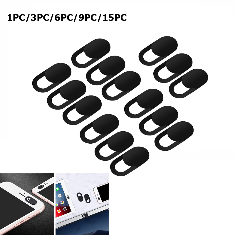 9PC/15PC WebCam Cover Shutter Magnet Slider Plastic for Iphone Laptop Camera Web PC Tablet Smartphone Universal Privacy Sticker