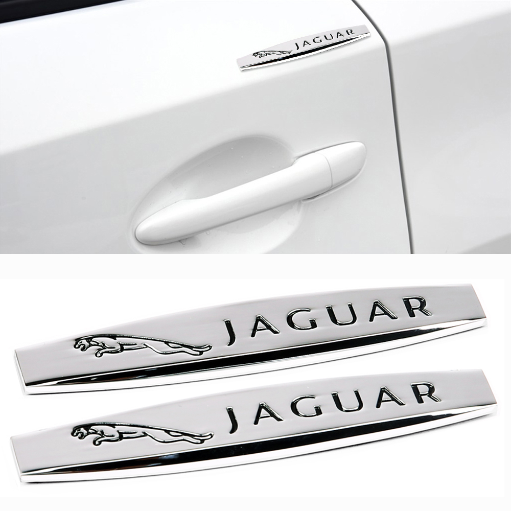 2pcs Exterior Metal Decal For Jaguar XF XFL XJ XJL XE XEL XK XKR XJ6 I Pace Fpace Epace S-type F-type Etype Auto Protection