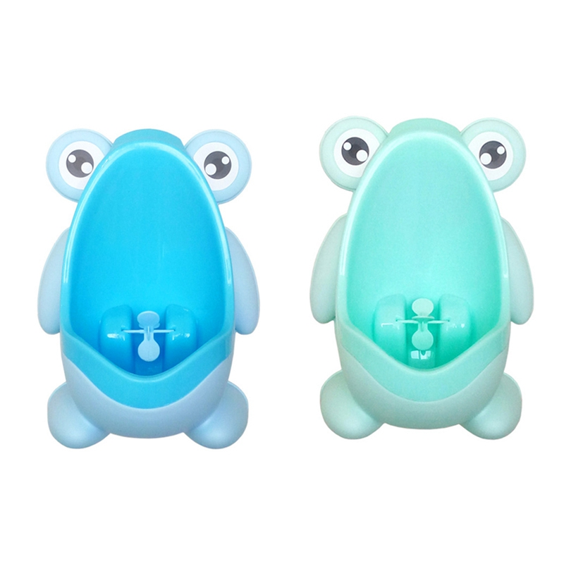 Baby Boy Urinal Infant Toddler Cartoon Frog Wall-Mounted Hook Potty Toilet Training Stand Vertical Boys Pee Toilet